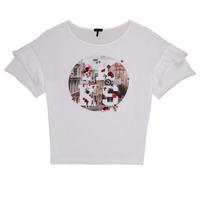 Oblečenie Dievčatá Tričká s krátkym rukávom Ikks DIBILIOU Biela
