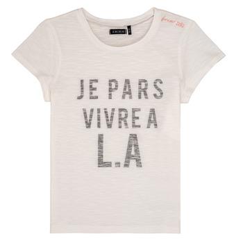 Oblečenie Dievčatá Tričká s krátkym rukávom Ikks DARRIAL Biela