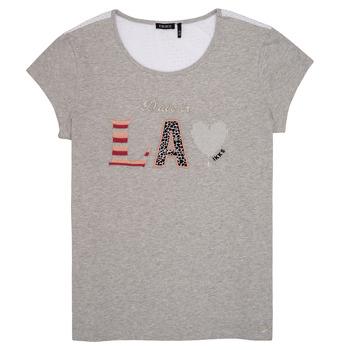 Oblečenie Dievčatá Tričká s krátkym rukávom Ikks ZOKO Šedá