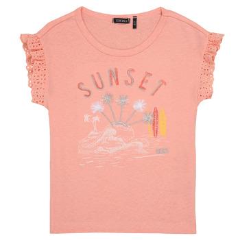 Oblečenie Dievčatá Tričká s krátkym rukávom Ikks POLIAK Oranžová