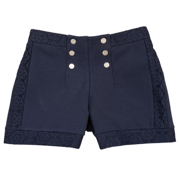Oblečenie Dievčatá Šortky a bermudy Ikks SOLISSO Námornícka modrá