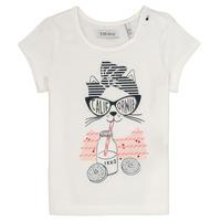 Oblečenie Dievčatá Tričká s krátkym rukávom Ikks MEOLIA Biela