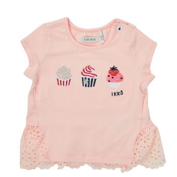 Oblečenie Dievčatá Tričká s krátkym rukávom Ikks DANIA Ružová