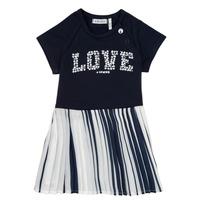Oblečenie Dievčatá Krátke šaty Ikks POELA Námornícka modrá