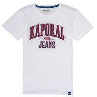 Oblečenie Chlapci Tričká s krátkym rukávom Kaporal ERNIE Biela