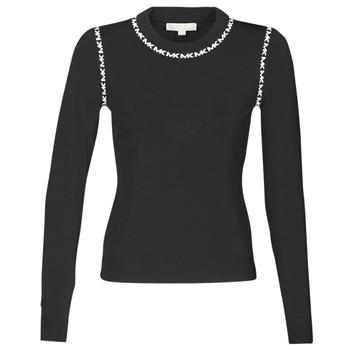 Oblečenie Ženy Svetre MICHAEL Michael Kors MK TRIM LS CREW Čierna