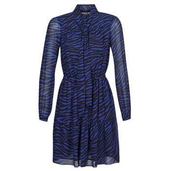 Oblečenie Ženy Krátke šaty MICHAEL Michael Kors BOLD BENGAL TIER DRS Modrá / Čierna