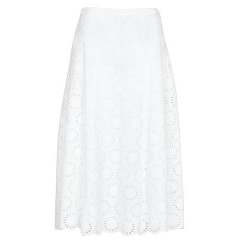 Oblečenie Ženy Sukňa MICHAEL Michael Kors FLORAL EYLT LNG SKIRT Biela