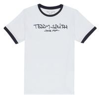 Oblečenie Chlapci Tričká s krátkym rukávom Teddy Smith TICLASS 3 Biela