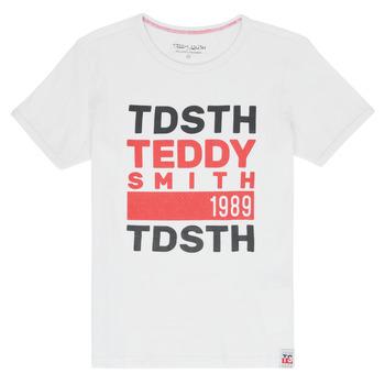 Oblečenie Chlapci Tričká s krátkym rukávom Teddy Smith DUSTIN Biela