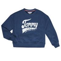 Oblečenie Dievčatá Mikiny Tommy Hilfiger KG0KG04955 Námornícka modrá