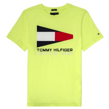 Oblečenie Chlapci Tričká s krátkym rukávom Tommy Hilfiger KB0KB05628 Žltá