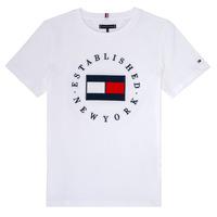 Oblečenie Chlapci Tričká s krátkym rukávom Tommy Hilfiger KB0KB05718 Biela