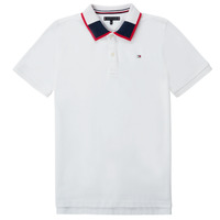 Oblečenie Chlapci Polokošele s krátkym rukávom Tommy Hilfiger KB0KB05658 Biela
