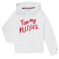 Oblečenie Dievčatá Krátke šaty Tommy Hilfiger KG0KG05094 Biela
