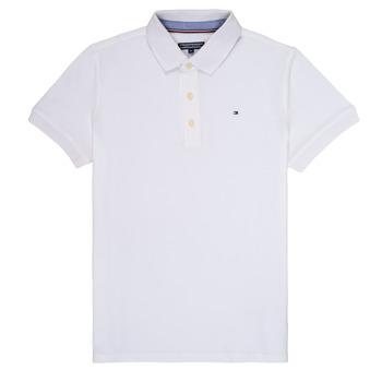 Oblečenie Chlapci Polokošele s krátkym rukávom Tommy Hilfiger KB0KB03975 Biela