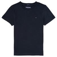 Oblečenie Chlapci Tričká s krátkym rukávom Tommy Hilfiger KB0KB04140 Námornícka modrá