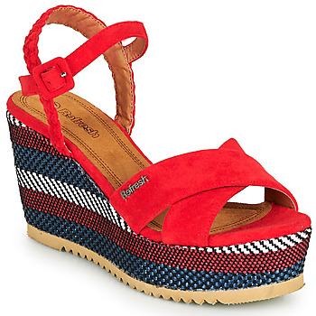 Topánky Ženy Sandále Refresh LOCKAL Červená