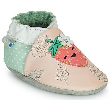 Topánky Dievčatá Papuče Robeez FRUIT'S PARTY Ružová / Zelená