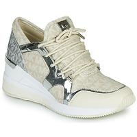 Topánky Ženy Nízke tenisky MICHAEL Michael Kors LIV TRAINER Béžová / Strieborná