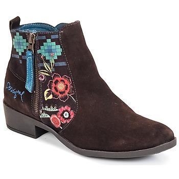 Topánky Ženy Čižmičky Desigual NATALIA čokoládová