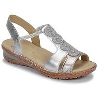 Topánky Ženy Sandále Ara HAWAII Biela / Strieborná