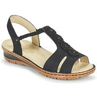 Topánky Ženy Sandále Ara HAWAII Čierna