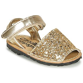 Topánky Dievčatá Sandále Citrouille et Compagnie SQUOUBEL Zlatá