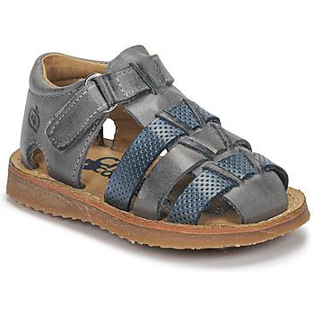 Topánky Chlapci Sandále Citrouille et Compagnie MISTIGRI Šedá / Modrá