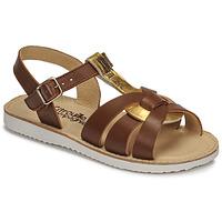 Topánky Dievčatá Sandále Citrouille et Compagnie MINOTTE Hnedá / Zlatá