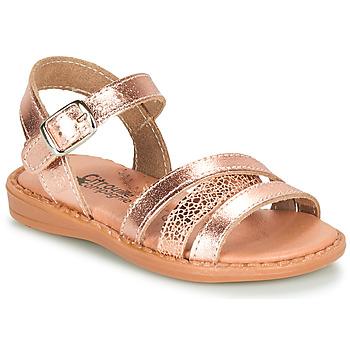 Topánky Dievčatá Sandále Citrouille et Compagnie IZOEGL Bronzová