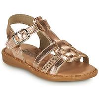 Topánky Dievčatá Sandále Citrouille et Compagnie ROLUI Bronzová