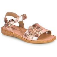 Topánky Dievčatá Sandále Citrouille et Compagnie KATAGUE Bronzová
