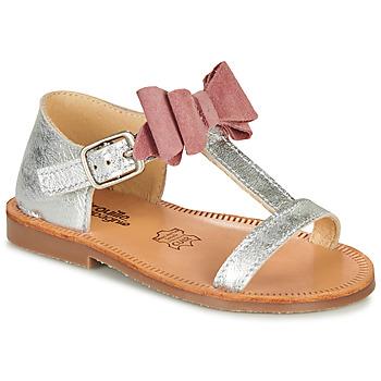 Topánky Dievčatá Sandále Citrouille et Compagnie MELINDA Ružová / Zlatá