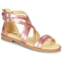 Topánky Dievčatá Sandále Citrouille et Compagnie IMOURAT Ružová / Zlatá
