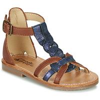 Topánky Dievčatá Sandále Citrouille et Compagnie GITANOLO Námornícka modrá / Ťavia hnedá
