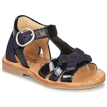 Topánky Dievčatá Sandále Citrouille et Compagnie MOLINETTE Námornícka modrá