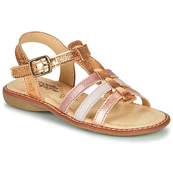 Topánky Dievčatá Sandále Citrouille et Compagnie GROUFLA Zlatá / Metalická / Ružová