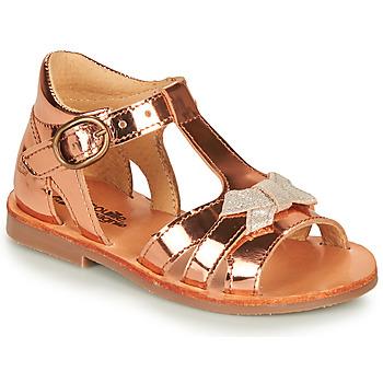 Topánky Dievčatá Sandále Citrouille et Compagnie MINIMOME Bronzová