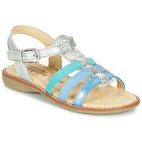 Topánky Dievčatá Sandále Citrouille et Compagnie GROUFLA Strieborná / Modrá / Zelená mentolová
