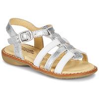 Topánky Dievčatá Sandále Citrouille et Compagnie GROUFLA Strieborná / Biela