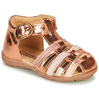 Topánky Dievčatá Sandále Citrouille et Compagnie RINE Ružová / Metalická
