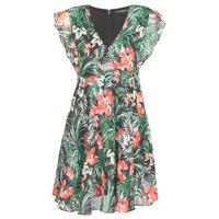 Oblečenie Ženy Krátke šaty Guess EULALIA DRESS Čierna / Zelená