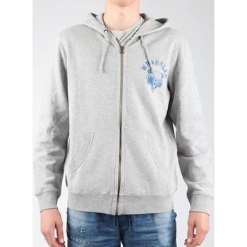 Oblečenie Muži Flísové mikiny Wrangler Hoodie Zip Sweat W6497JE37 grey