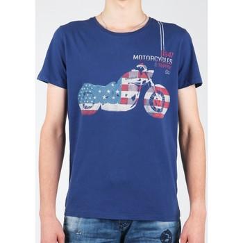 Oblečenie Muži Tričká s krátkym rukávom Wrangler S/S Biker Flag Tee W7A53FK 1F navy