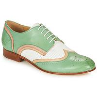 Topánky Ženy Derbie Melvin & Hamilton SALLY 15 Zelená / Biela / Béžová