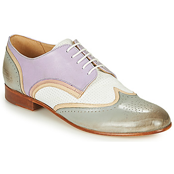 Topánky Ženy Derbie Melvin & Hamilton SALLY 15 Modrá / Biela / Béžová