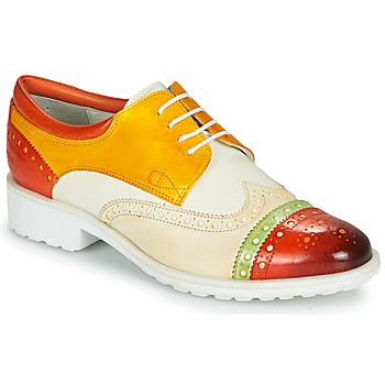 Topánky Ženy Derbie Melvin & Hamilton AMELIE 85 Biela / Žltá / Hnedá