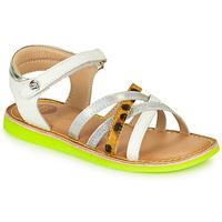 Topánky Dievčatá Sandále Gioseppo STAGGIA Biela / Žltá
