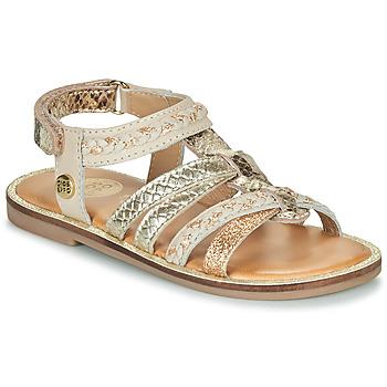 Topánky Dievčatá Sandále Gioseppo PIGNOLA Béžová / Zlatá